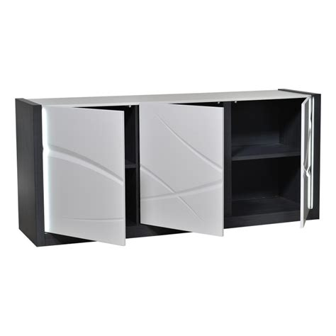 elypse i white lacquer sideboard with wood