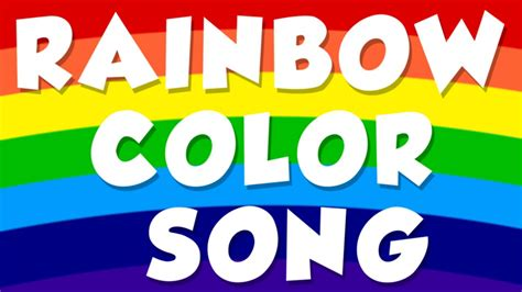 rainbow color song color song for preschool baby 808 | maxresdefault