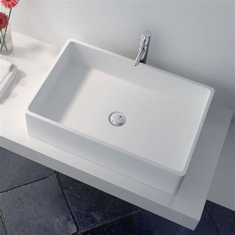 vasque 224 poser en r 233 sine rectangulaire 60x40 cm min 233 ral