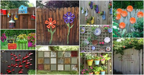 backyard fence decor 12 beautiful diy fence decoration ideas