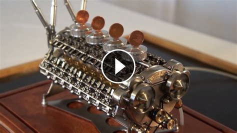hand built miniature  cylinder engine