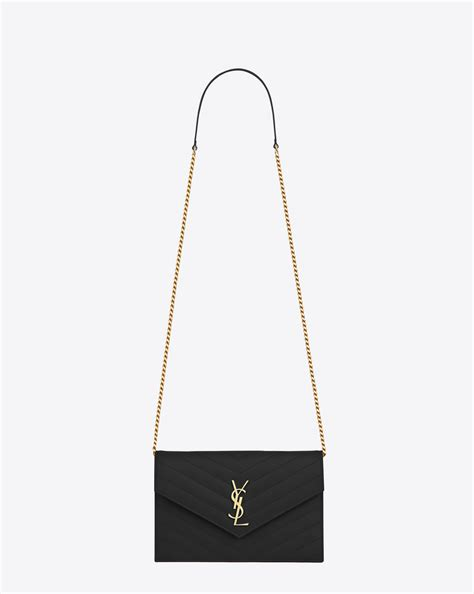 saint laurent monogram saint laurent envelope chain wallet