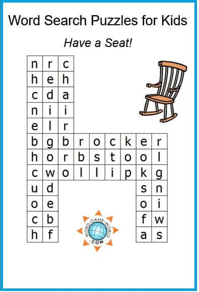 word search puzzles  kids  fun  solve