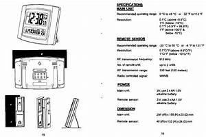 Specifications Main Unit  Remote Sensor  Power