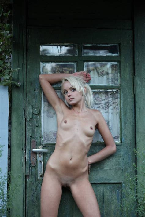 Skinny Blonde Undresses In An Old House Russian Sexy Girls