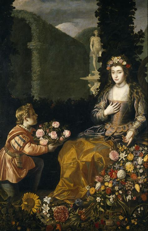Filejuan Van Der Hamne Offering A Flora, 1627, Prado