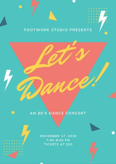 customize  dance poster templates  canva