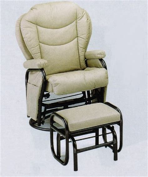 black friday swivel glider rocker chair with ottoman ivory