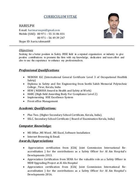 safety officer cv gopitch co safety manager resume