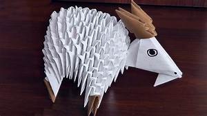 3d Origami Goat  Nanny-goat  Assembly Diagram  Tutorial  Instructions