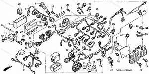 Honda Motorcycle 2005 Oem Parts Diagram For Wire Harness
