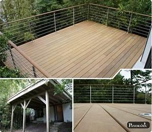 terrasse sur pilotis en bois composite timbertech With terrasse sur pilotis en bois