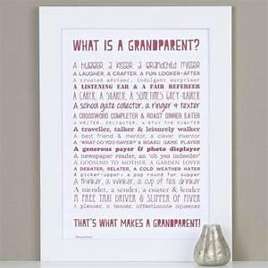 Personalised Grandparent Print With Grandparent Poem ...
