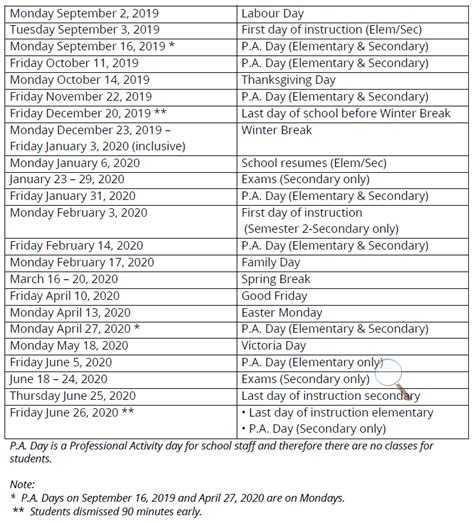 school calendar school year released burlington