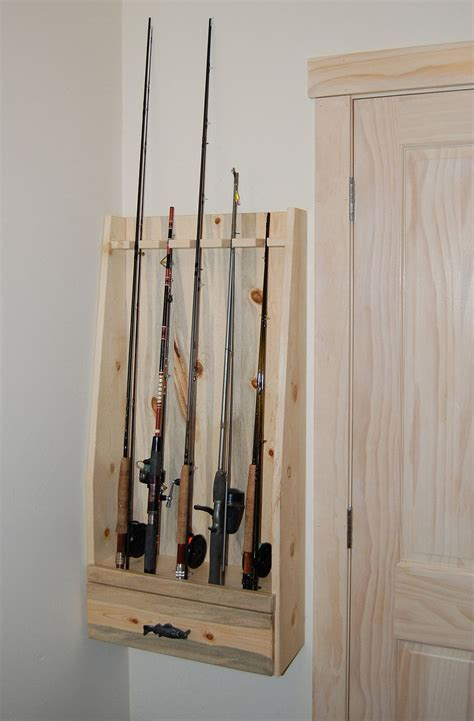 fishing pole storage rack i thought this would be cool for your fishing poles