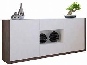Buffet Salon Conforama : buffet bas 2 portes 2 tiroirs otawa coloris pin fonc blanc vente de buffet bahut ~ Teatrodelosmanantiales.com Idées de Décoration