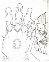 Thanos Coloring Gauntlet Infinity Template Printable Sketch Jason Getdrawings sketch template