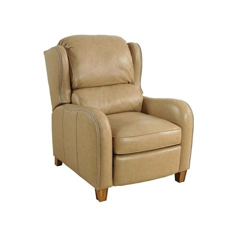 hexham leather reclining wing chair