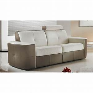 canape cuir capitonne bicolore 30 direct usine verysofa With canapé bicolore cuir