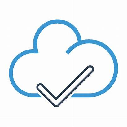 Backup Office Cloud Icon Checkmark Sync