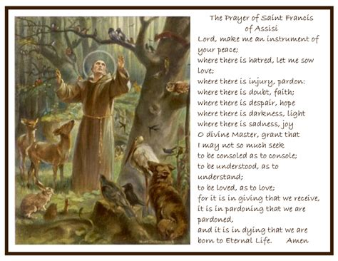 prayer of st francis of assisi september 2014 catholic4life page 9