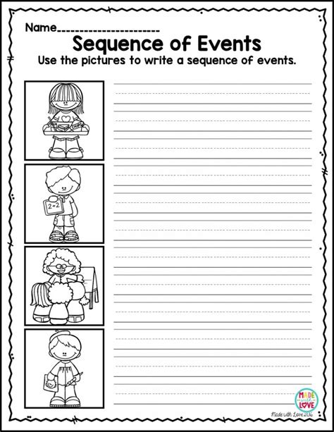worksheets story sequencing printable worksheets for all