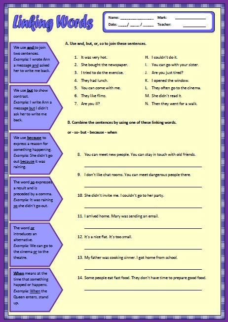 all worksheets 187 linking words and phrases worksheets
