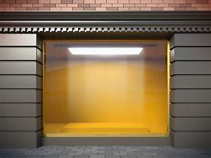 Granite decorating, empty store window displays shop