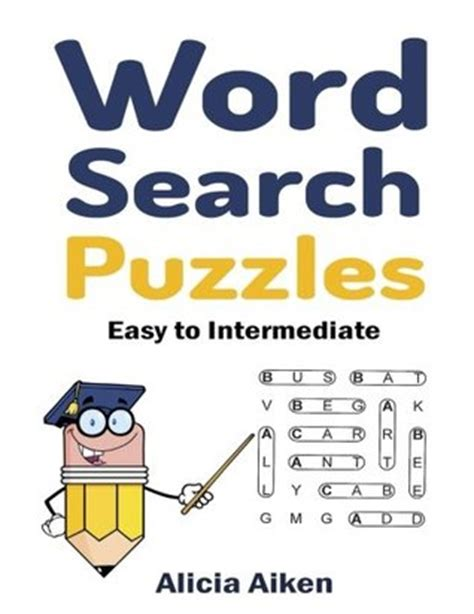 word search puzzles easy  intermediate  alicia aiken