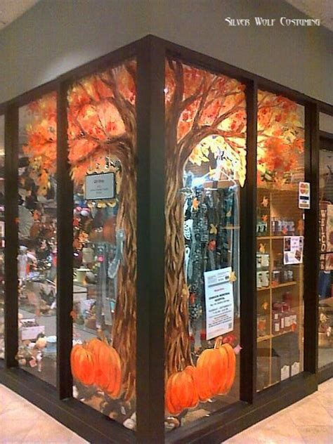Fenster Bemalen Herbst by Fall Tree Window Painting By Rattrapstudios On Deviantart
