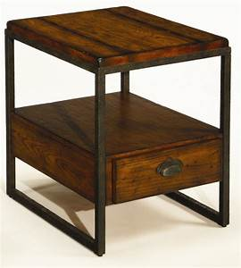Rectangular End Table With Drawer By Hammary Wolf And