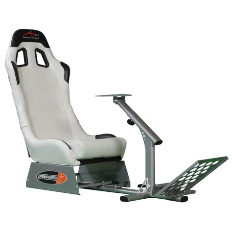 siege baquet volant ps3 playseats a1gp siège simulation automobile blanc base