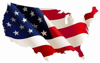 Flag Clip Usa Cliparts Map Clipart American
