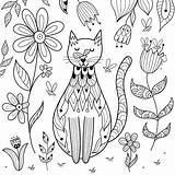 Coloring Cat Printable Cats Colouring Mom Vector 30seconds Fect Purr Ages Lovers Printables Bee Tip Posters Posterlounge Vectorstock Similar sketch template