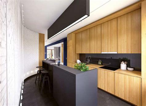cuisine noir et bois salon blanc et bois