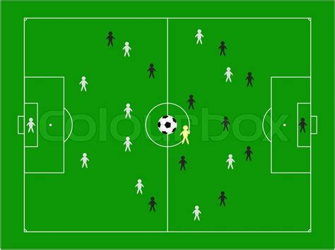 football pitch  teams illustration stock photo