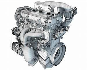 Car Engine 3d Model  U2013 3d Horse