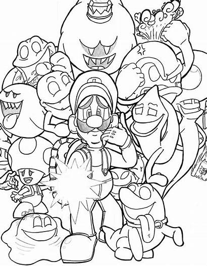 Luigi Mansion Deviantart Coloring Pages Moon There
