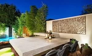 decor mural exterieur mur dueau exterieur jardin With good amenagement de petit jardin 19 citronnier