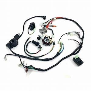 Us Atv Wiring Harness Wire Loom Cdi Electric Stator Kit