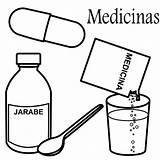 Coloring Pages Medicines Medicina sketch template