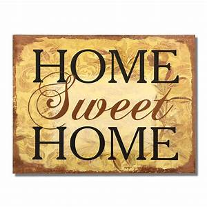 Home Sweat Home : adeco decorative wood wall hanging sign plaque home sweet home brown gold home decor sp0232 ~ Markanthonyermac.com Haus und Dekorationen