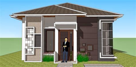 bentuk rumah sederhana tapi elegan gambar desain model