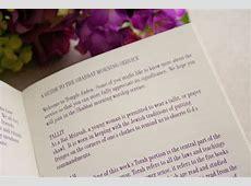 Alexa Bat Mitzvah Booklet Program — Wedding Programs