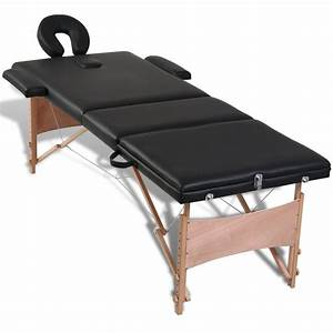 Table Pliante Noire : acheter table de massage pliante 3 zones noir cadre en ~ Teatrodelosmanantiales.com Idées de Décoration