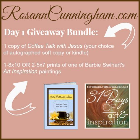 Day 1 Giveaway Coffee Talk With Jesus And A Little Bit Of Art Inspiration  Rosann Cunningham