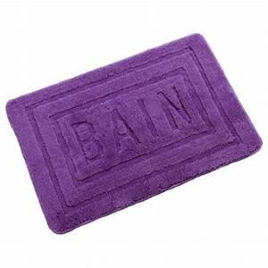 tapis de salle de bain 60x90 cm violet With tapis de bain violet