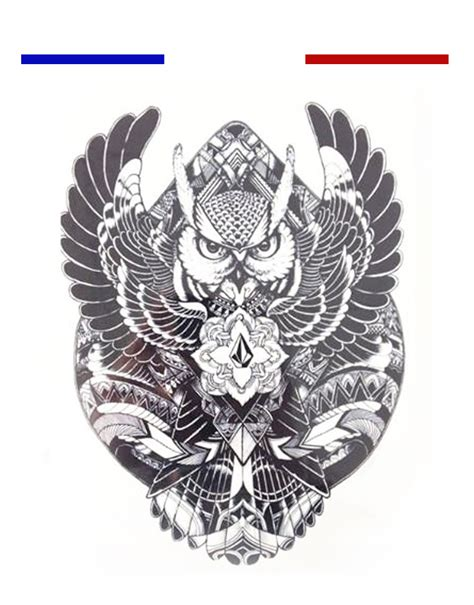 tatouage chouette mandala cochese tattoo
