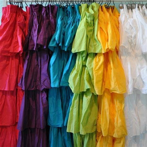 colored shower curtain ruffle fabric shower curtain assorted color ebay