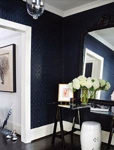 best 25 navy blue walls ideas on pinterest navy walls With best brand of paint for kitchen cabinets with colorful world map wall art